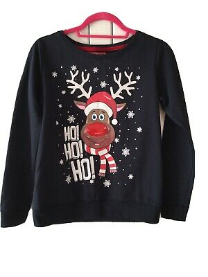 Childrens Christmas Novelty Jumper With Rudolph Flashing Nose. • 1.10£