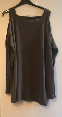 Sarah Pacini Brown Open Shoulder Layering Sweater One Size • 20£