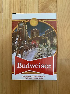 $ CDN28.45 • Buy 2020 Budweiser Holiday Stein 41st Anniversary Edition  Brewery Lights -New W/COA
