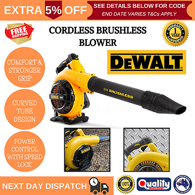 AU194.01 • Buy 54V Cordless Leaf Blower Li-ion Battery Variable Control Commercial Garden Tool