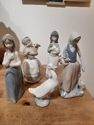 Lladro Nao Figurines  X5 Good Condition.  • 19.99£