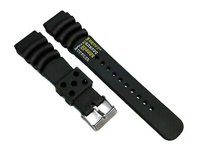 $ CDN16.81 • Buy Seiko Z20 Watch Band Diver SKX171 SKX173 20mm Black Rubber  Diver Calculator