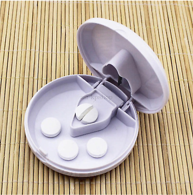 AU15.67 • Buy Medicine Pill Cutter Splitter Storage Compartment Box Tablet Holder Safe Half