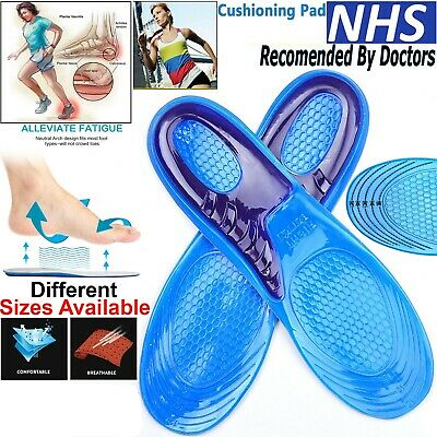 Work Boots Feet Arch Support Orthotic Absorb Shock Gel Massaging Shoe Insoles • 3.99£