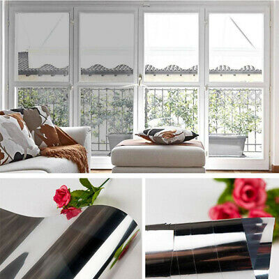 MIRROR SILVER - PRIVACY ONE WAY WINDOW TINTING PRO TINT FILM 50, 76, 152cm • 7.99£