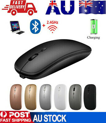 AU15.79 • Buy Optical Wireless Bluetooth 5.1 Slim Rechargeable Mouse For Laptop, Mac,iPad
