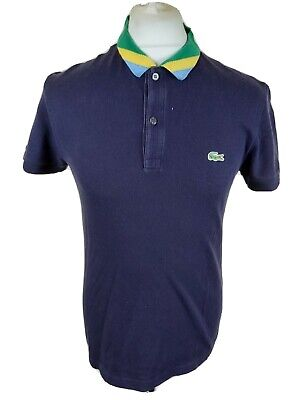 £26.51 • Buy Mens Lacoste Brazil Collar Polo Shirt Blue Size 3 Small 38 To 40 Chest