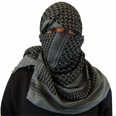 $9.99 • Buy Military Army Shemagh Tactical Desert Keffiyeh Scarf 100% Cotton Scarves Roman