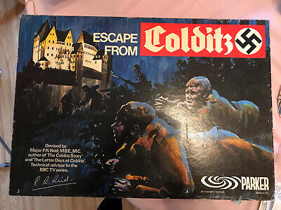 Vintage Escape From Colditz Board Game 1973 PARKER Edition - No Dice • 18£