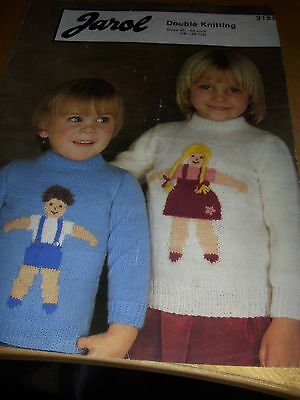 417/   Jarol Knitting Patterns Toddlers Motif Sweaters 18  - 26  DK Wool • 1.10£