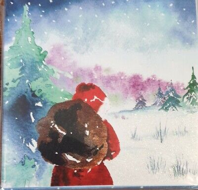 One Pack Of 10 Charity Christmas Cards - Walking Through The Woods • 1.50£