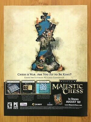 $17.99 • Buy Hoyle Majestic Chess PC 2003 Vintage Print Ad/Poster Official Game Advertisement