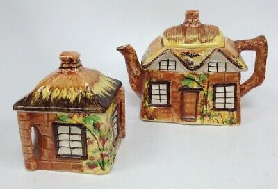 Vintage Price Bros Cottage Ware Teapot + Small Lidded Pot In Good Condition #753 • 6.99£
