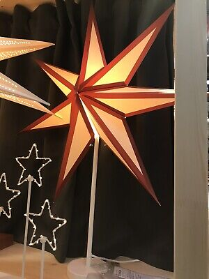 Standing Red And White IKEA Star With 2020 Xmas Light Lamp 70cm • 35.99£