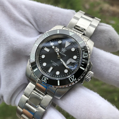 $ CDN175.12 • Buy Steeldive 1953 Diver Watch Automatic Men 41mm Black Dial Submariner Seiko NH35