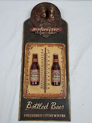 $ CDN442.99 • Buy Rare Budweiser Beer Bottles Anheuser-busch Clydesdale Horses Thermometer Sign