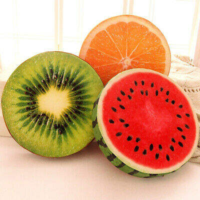 3D Thick Fruit Kiwi Lemon Throw Pillow Watermelon Cushion Home Sofa Seat Pads • 4.98£