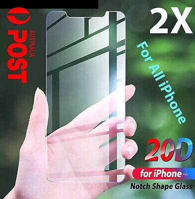 AU3.75 • Buy 2xTempered Glass Screen Protector For IPhone 12 Pro 11 8 7 6s XS Max XR Plus 4 Y