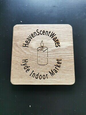 Personalised Engraved Wooden Coasters Custom Design With Company Name And Logo  • 1.99£