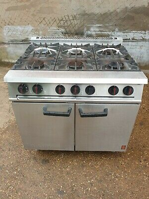 Falcon Dominator 6 Burner Gas Cooker Range Oven Serviced Cleaned Delivery Availa • 750£