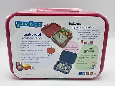 AU26.08 • Buy Yumbox Leakproof Bento Lunch Box Container PINK - BPA Free - NEW