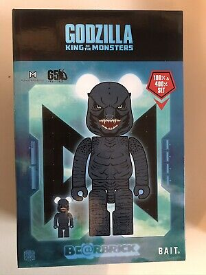 $200 • Buy SDCC 50 2019 Exclusive BAIT Bearbrick Godzilla King Of Monsters 400% & 100% New