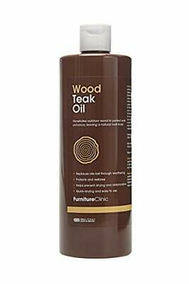 Furniture Clinic Teak Oil (500 Ml)- Wood Oil Protects Outdoor Furniture - Restor • 17.22£