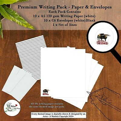 £4.99 • Buy Bumble Bee Writing Paper Packs Envelopes & Themed Letter Paper Stationery Set A5