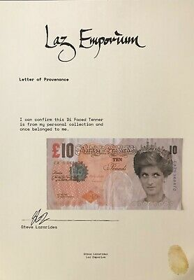 £2500 • Buy Banksy Di Faced Tenner With Latest Laz Emporium Provenance Not Framed