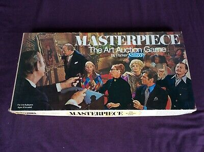 MASTERPIECE THE ART AUCTION GAME PARKER 1970 VINTAGE BOARD GAME Complete • 16£