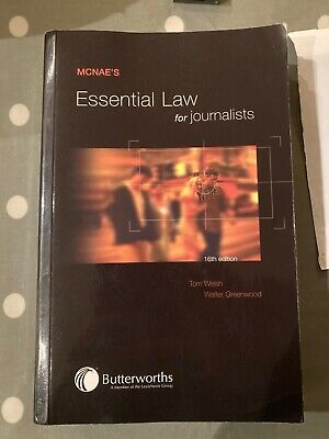 £1.99 • Buy Essential Law For Journalists By McNae, L.C.J. Paperback Book The Cheap Fast