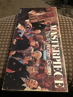 MASTERPIECE THE ART AUCTION GAME PARKER 1970 VINTAGE BOARD GAME Complete • 14.40£