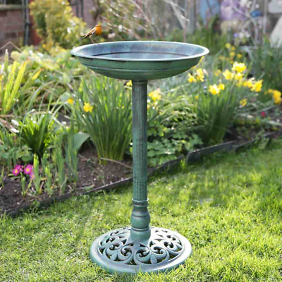 Traditional Free Standing Outdoor Garden Bird Bath Bowl 63cm By Kingfisher BBATH • 13.95£