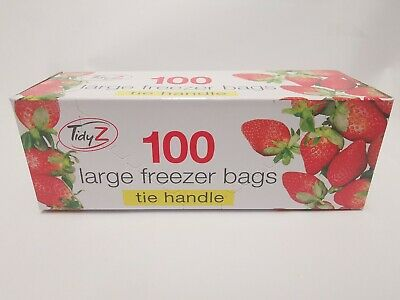 £5.99 • Buy 100 LARGE STRONG - Tie Handle - FREEZER BAGS USE FOR FOOD OR OTHER STORAGE USE