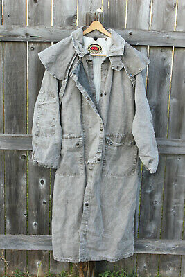 $89.97 • Buy The Australian Outback Collection Vintage Natural Canvas Duster Coat Mens Size L
