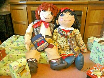 Large Rosie And Jim - 1990s Narrow Boat Rag Dolls  • 99£