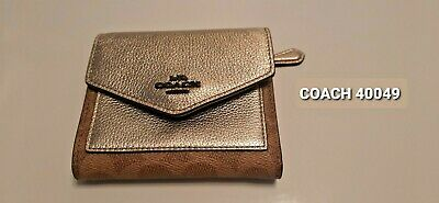 £46 • Buy NEW GENUINE COACH Small Wallet In Colorblock Signature Canvas Tan/Plat -RRP £75