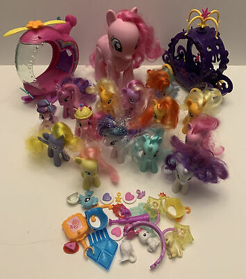 My Little Pony Lot - 15 Ponies, Carriage, Helicopter, & Accessories • 17.85£