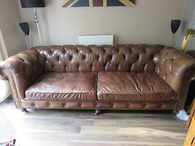 Barker And Stonehouse Asquith 3 Seater And 2 Seater Chesterfield Sofas • 2,550£