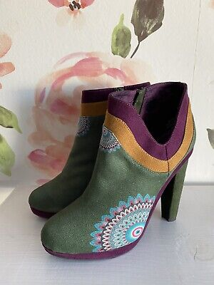 £35.40 • Buy Desigual Alicante Heeled Ankle Boot Size 39 US 8
