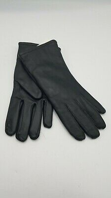 $16.99 • Buy NWT Military Leather Dress Gloves Poly/Wool Lined Unisex Black - Size 3