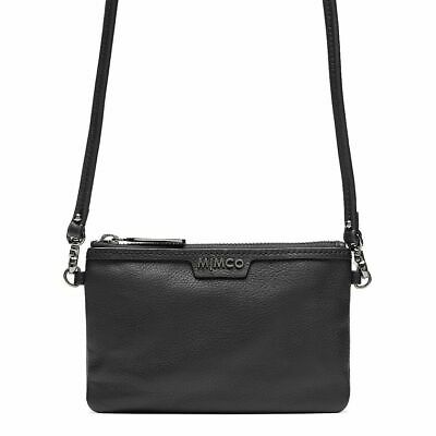 AU69.95 • Buy Mimco Classico Pouch Small Black Gunmetal Leather Authentic BNWT RRP$99.95