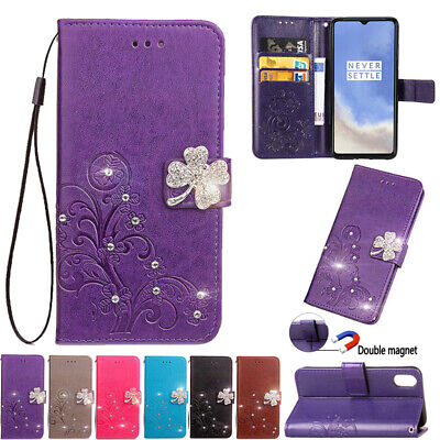 AU15.89 • Buy For OnePlus 5 6 7T 8Pro Bling Flip Leather Magnetic Wallet Card Stand Case Cover
