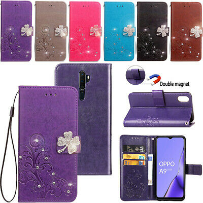 AU15.89 • Buy OPPO Reno (5G) R11 R17 AX5 Bling Diamond Flip Leather Magnetic Wallet Case Cover