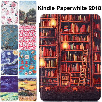 AU17.89 • Buy For All-New Kindle Paperwhite 2018 6  10th Gen Painted Smart Leather Case Cover