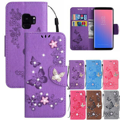 AU15.89 • Buy For Samsung S7 S20FE A21S A51 Magnetic Leather Sparkle Wallet Stand Case Cover