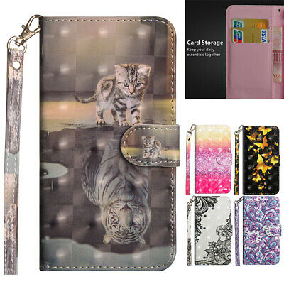 AU14.88 • Buy For Samsung S10 S20 FE A31 A42 Patterned Magnetic Leather Wallet Flip Case Cover