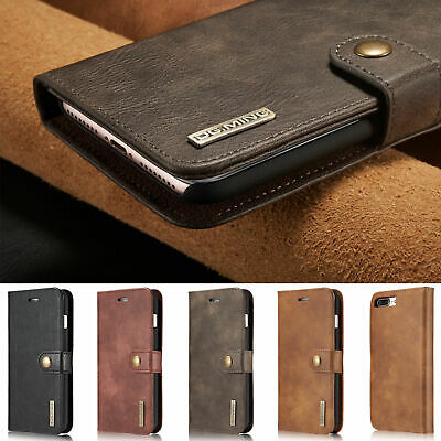 AU17.89 • Buy  For IPhone 7 8+ XR 13 12Pro Magnetic Detachable Leather Wallet Card Case Cover