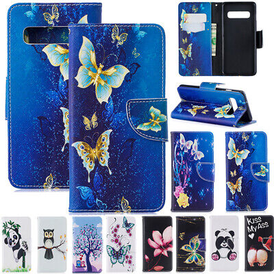 AU14.88 • Buy For Samsung S7 S20FE A8 A42 A21S Patterned Flip Leather Wallet Stand Case Cover