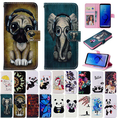 AU14.69 • Buy  Painted Flip Leather Wallet Card Slots Case Cover For Samsung Galaxy Phones